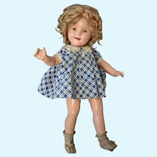 Shirley Temple 20 In Composition Doll in Tagged NRA Dress