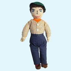 "Knit Boy Doll, Vintage  12"""