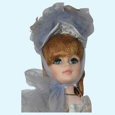 """Gainsborough, Alexander Portrait 1961,  21"""" Doll in Blue Lace Gown, Hat"""