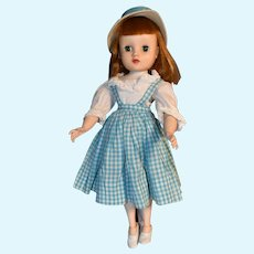 Maggie Mix-Up 1960 15 Inch Elise Doll in Checked Dress with Hat