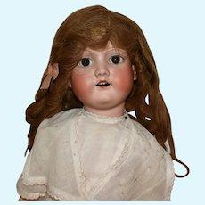 Morimura Bros Japan, Bisque Head Doll, 23 Inch  1920s Girl