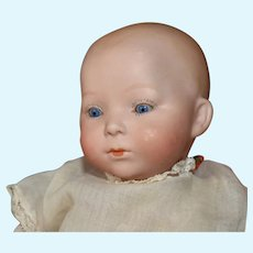 "Bisque Head Baby Doll, 11 Inches, Marked ""3"""