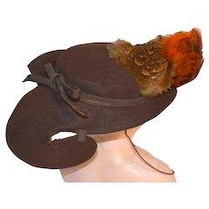 Lady's Hat, 1930s,  O'Connor Moffatt San Francisco Store