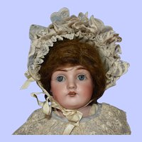 Kestner 154 Bisque Head Doll on Jointed Body, 18 Inch