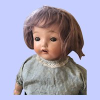 Horsman Early Mama Composition Doll 24 Inch in Gingham