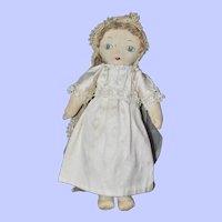 Bride Doll, 1930s Cloth - 12 Inches