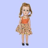 """Arranbee Nanette Walker Doll, 1952 Hard Plastic 14"""""""