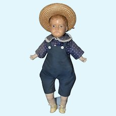 """Marks Bros. American Celluloid Head Boy Doll, 19"""" 1917"""