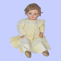 "Effanbee Flirty -Eye Composition Doll 18"" 1940s"