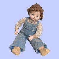 Effanbee Mickey Flirty-Eye Composition Doll, Repainted 24 In