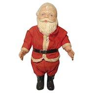 "Vintage Celluloid & Plastic Santa Claus W / Crier Jointed Arms 10"""