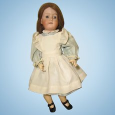 """Morimura Brothers 17"""" Bisque Socket Head Caucasian Doll Jointed Composition Body Japan"""