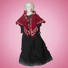 "Blonde China Shoulder head German Doll China Shoes 21"""