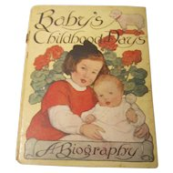 Baby Book / Album Baby's Childhood Days 1909 Art by Dulah Evans Krehbiel