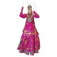 "Large Vintage Wayang Indonesian Golek Batik Javanese Wood / Cloth Marionette Puppet 29"""