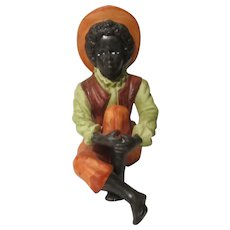 Bisque Black Boy Figurine Seated