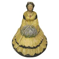 Vintage String Holder Lady Figurine