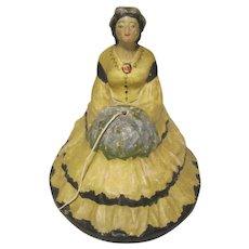 Vintage String Holder Lady Figurine
