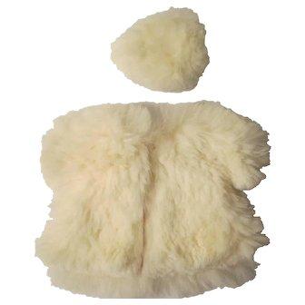 1954-56 Vogue Ginny Rabbit Fur Coat & Tam