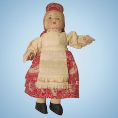 Vintage Cloth Russian Soviet Union Doll
