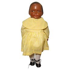 Black Campbell Kid Style Doll Composition & Cloth