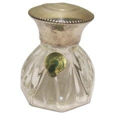 Waterford Crystal Vanity Jar W / Silver Plate Screw-on Top