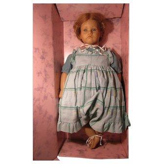 "ANNETTE HIMSTEDT Vinyl Kathe 26"" Doll W / Box Hand Signed on Back 1986-1987"