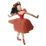 Vintage Felt Cloth Klumpe Nistis Roldan Ballerina Doll