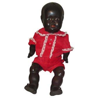 Hugo Wiegand German Compositon Black Baby Doll 1930s