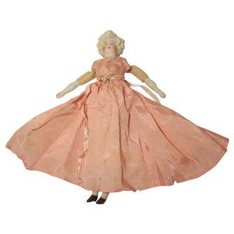 "German Parian Bisque Shoulder head Cabinet Size Doll 11 1/4"""