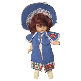 "Vintage Composition String Jointed Doll for Restoration or Parts  15"""