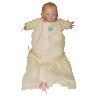 All Original Grace S. Putnam Bye-Lo Baby Doll W / Pin Dress Label Signed Body