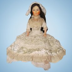 Bed Boudoir Doll With Beautiful Removable French Lace Dress