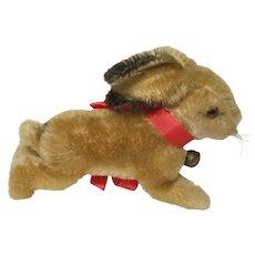 "Vintage Steiff Mohair Bunny Rabbit 7"" Long  W / Button"