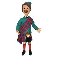Large Felt Cloth Scottish Male Doll