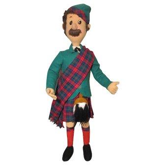 Large Felt Cloth Scottish Male Doll