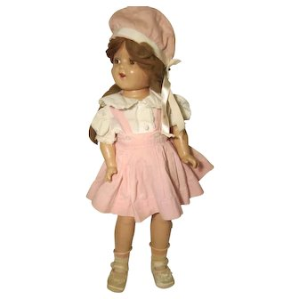 """Ideal Composition Doll 22"""" Pigtail Sally or Ginger Incised on Back"""