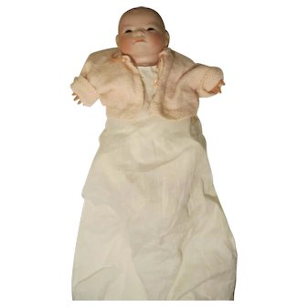 "Grace S. Putnam Bye-Lo  Alt, Beck Gottschalck  Bisque Head Doll Signed Body Needs Eyes 12"""