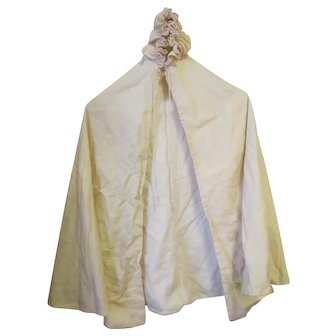 Baby Baptismal or Christening Cape 1926 Wool Fully Lined Embroidered At Bottom