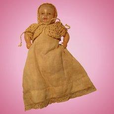 "Bent Knee Celluloid Infant Doll 4 3/4"" Japan"