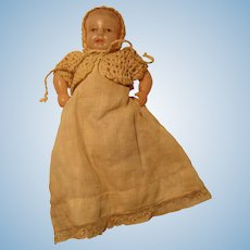 "Bent Knee Celluloid Infant Doll 4 3/4"" Japan"