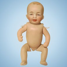 All Bisque Strung Character Baby Doll 5 1/2""