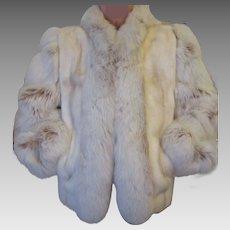 Vintage Mink And Fox Jacket Custom Made 1970's