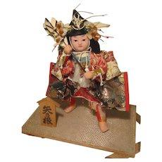 Wonderful Vintage Asian Japanese Boy's Day Samurai Warrior Doll
