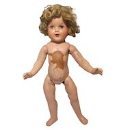 """Shirley Temple Composition Doll 17"""" For Repair or Parts"""