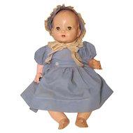 """Effanbee F & B 20"""" Flirty Eye Composition Cloth Baby Doll"""