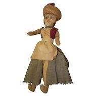 """Lovely Vintage Handmade Jamaican Cloth Doll 14 1/2""""  Miss Anie"""