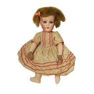 "Cuno and Otto Dressel 12"" German Bisque Head Doll"