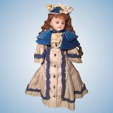 "French Poured Shoulder head Wax Doll 11"" Silk Body"