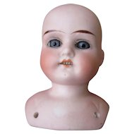 Bisque Head ONLY Ruth Doll  Butler Bros.
